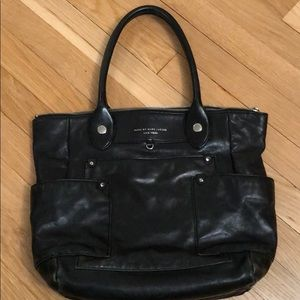 Marc by Marc Jacobs leather tote, black